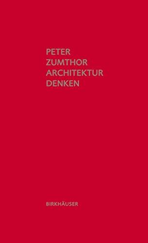 Architektur denken Buch-Cover