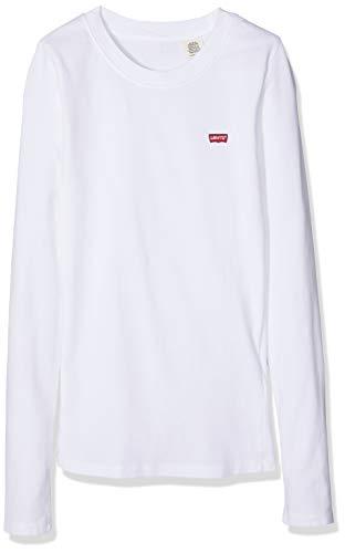 Levi's Damen T-Shirt LS Baby Tee, Weiß (White + 0000), X-Large (Herstellergröße: XL)