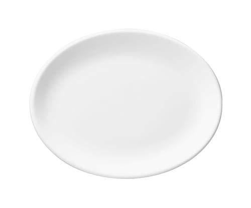 Assiette de service ovale blanche en porcelaine ligne White 12 pièces