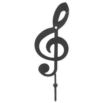 Tante Chris, die Produkte-Violinschlüssel Single Wandhaken-schwarz matt Farbe-Ball auf das Ende der Haken-Innen- oder Outdoor-Aufhängen Licht, Mäntel, Hüte, Handtücher, Handtaschen und mehr