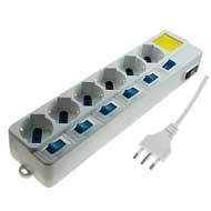 Steckdosenleiste 6Steckdosen Schuko 6Schalter + 1Master 16A (Vm Schalter)
