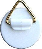 Home Xpert Selbstklebe-Aufhänger mit Messingoese, Kunststoff weiß Ø 25 mm