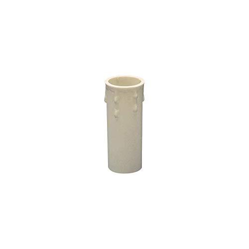 Lampo Finta Candela Con Goccie Cover Rivestimento Di Plastica Per Portalampada E14 Bianco 85