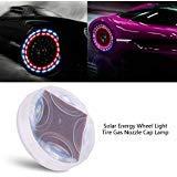 Auto-Reifen-Rad-Lichter Solar-wasserdichte Auto-Energie-Lampe Dekoratives mit Bewegungs-Sensoren Buntes LED-Reifen-Licht-Gas-Düsen-Kappen-Bewegungs-Sensoren für Auto-Motorrad-Fahrräder (4)