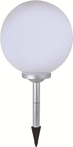 LED Solar-Kugelleuchte Marla Solar-Kugellampe mit Erdspieß und 4 LEDs, Durchmesser 30cm, Kunststoff Kugelleuchte Gartenkugelleuchte