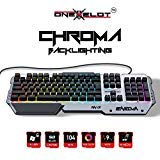 onexelot Aluminium Gaming-Tastatur, USB Wired RGB Hintergrundbeleuchtung Revolutionäre Semi Mechanische Tastatur Mod Enigma - Top Hat Mod