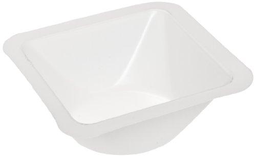 Heathrow Scientific HD1420BB Wägeschälchen, Standard, Antistatisch, Polystyrene, 85 mm Länge x 85 mm Breite x 24 mm Tiefe, Weiß (500-er Pack)