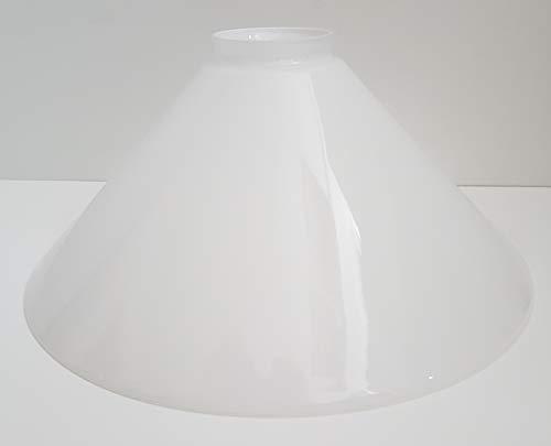 Ersatzglas Kragenrand Lampenglas Lampenschirm konisch opal glänzend Pendelleuchte Tischleuchte Leseleuchte Fluterglas