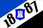 Hamburg 1887 mit Wappen Fussball Fahne Flagge Grösse 1,50x0,90m - FRIP -Versand®