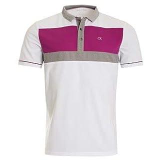 Calvin Klein Herren Poloshirt Gr. M, Wht-AZU