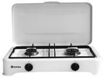 Meireles H 500 W hobs - Placa (Mesa, Gas, Acero inoxidable, Giratorio, 51 cm, 28 cm) Color blanco