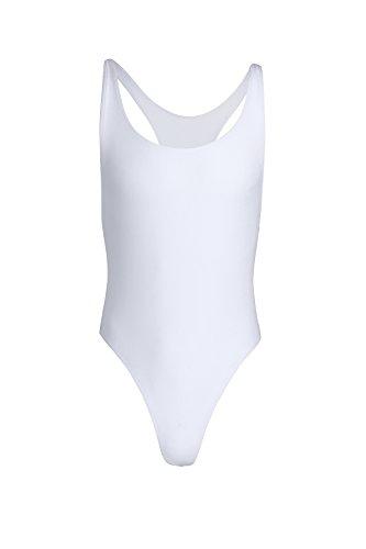 CHICTRY Herren Body Unterwäsche Sportbody Männer Unterhemd Sport Shirt Hemd Weste Tanktop M-XL Weiß