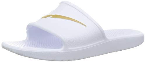 Nike Damen Kawa Shower Dusch- & Badeschuhe, Weiß (White/MTLC Gold 101), 38 EU