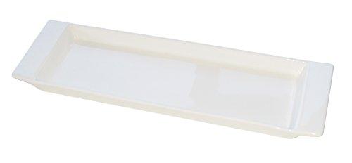 Eñe Chun Plat rectangulaire, 30 cm Blanc