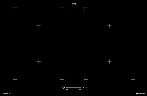 Giga Slider FL Hochwertiges Flex Induktionskochfeld mit Octa-Spulen 80 cm/ Einbauherd zum Einbau flächenbündig aufliegend / Brückenfunktion Timer Ankochautomatik/ Kochfeld Induktion/ Warmhaltefunktion und Booster für jede Kochstelle/ Einbaukochfeld Made in Germany