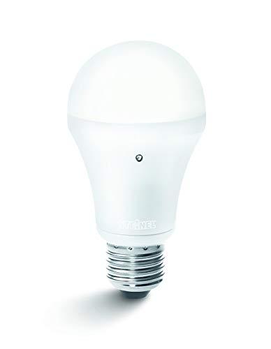 Steinel SensorLight LED, lampadina LED con sensore crepuscolare integrato, 8,5 W di potenza, 710 lm, per portalampada E27, 008215 [Classe di efficienza energetica A]