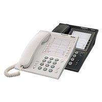 Panasonic KX-T7710NE-B Analoges Systemtelefon,schwarz,5 Zieltasten für Nummern und Funktionen, Data-Port,Message Lampe
