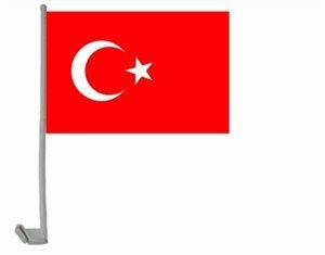 Preisvergleich Produktbild trends4cents Autoflagge Autofahne Türkei, 30 x 40 cm