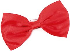 Bow Tie. Small Red Budget Accessory Fancy (Erwachsene Fancy Dress)
