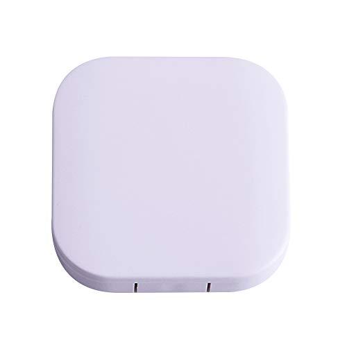 enbehälter Weiche Linsen Reise DIY Schöne Mate Box Contact Lens Case Pflegelösung Behälter Kontaktlinsen-Etui Begleiter Weiß(eins zu eins) ()