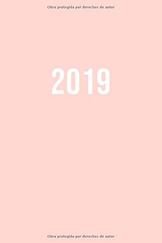 2019: ENE - DIC Agenda Semanal   152 x 229 mm   1 Semana en 2 Páginas   52 Semanas Planificador y Calendario   Pink
