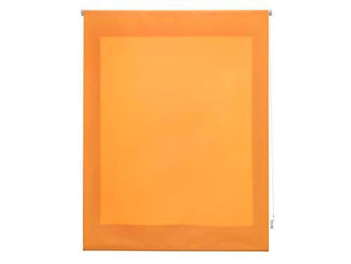 FirstlineGo Estor Enrollable traslúcido Liso Naranja 100 X 175 cm