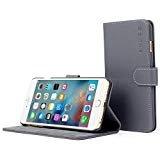 iPhone 6Plus Case, Snugg®-grau Leder iPhone 6Plus Flip Case [Lebenslange Garantie] Premium Wallet Phone Cover mit Card Slots für Apple iPhone 6Plus