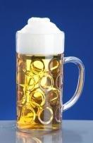 Schorm lavabile in lavastoviglie, in policarbonato infrangibile tedesco beer stein. 2 pinte/1300 ml/45.75 da birra in vetro, con manico in plastica, altezza 20 cm, diametro bordo 10 cm