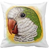 quaker-parrot-realistic-painting-throw-pillow-case