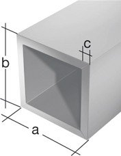 Vierkantrohr aus Aluminium, 1000 x 15 x 15 mm, silberfarbig eloxiert - Bild 1