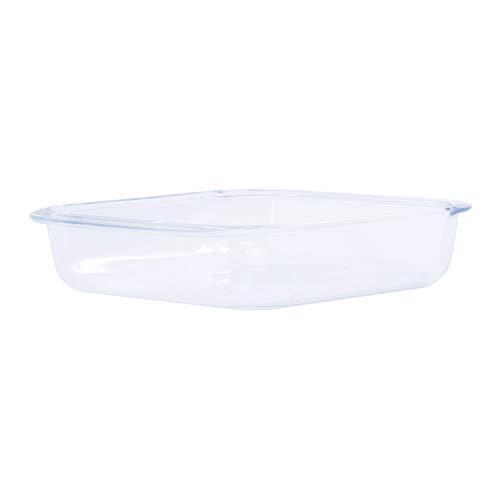EASYLOCK 35 x 22,2 x 6,4 cm//2,6 L Bandeja rectangular para horno de cristal de borosilicato con tapa de pl/ástico para horno