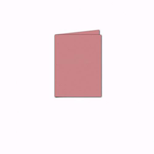 Faltkarte/Doppelkarte - Greenline Pastell Misty Rose / 100 Stück/DIN A5