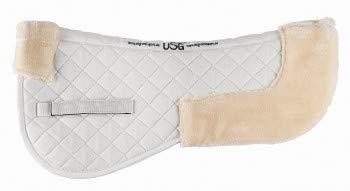 USG Sattelunterlage Baumwolle/Webpelz, Weiß/Beige