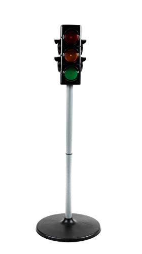 (Eddy Toys Spielzeug Verkehrsampel, Kinderspielzeug Ampel 2 Funktionen, 2 Seiten Fußgängerampeln Plus 2 Seiten Verkehrsampeln, batteriebetrieben, (HxØ) ca. 17 x)