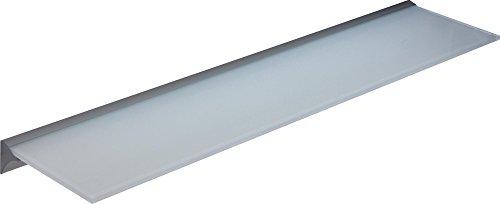IB-Style - Glasregal SATINIERT + Klemmleiste für 6 und 8 mm Böden mm SILBERMATT | Stärke 8 mm | 6 Abmessungen | Klarglas oder Satiniert | 600x300x8 mm SATINIERT - Regalsystem Wandregal Glasablage Glasboden Glasplatte Glas regal Badablage Wandablage