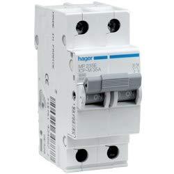 Hager serie mp-e - Interruptor magnetico bipolar 15a curva icp-m
