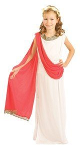ILOVEFANCYDRESS - Kinder Mädchen Göttin Römisch Griechisch Kostüm Verkleidung