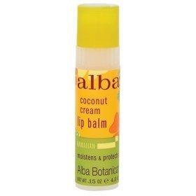 Alba Botanica: Natural Hawaiian Coconut Cream Lip Balm, 0.15 oz (2 pack) by Alba Botanica - Alba Botanica Coconut Lip Balm