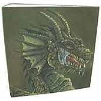 Arcane Tinmen 30311 - Archivador de 3 anillas, diseño de dragón, color verde