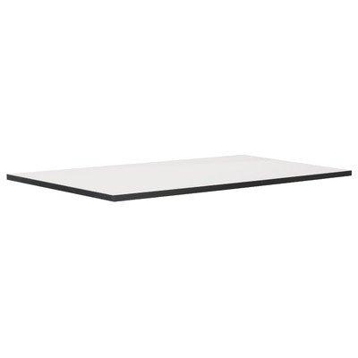 Phoenix 616230WES Tischplatte Chicago, passend zur gesamten Chicago Ihr Individuelles Büro Serie, 120 x 2,5 x 70 cm, weiß mit Schwarzen Kanten