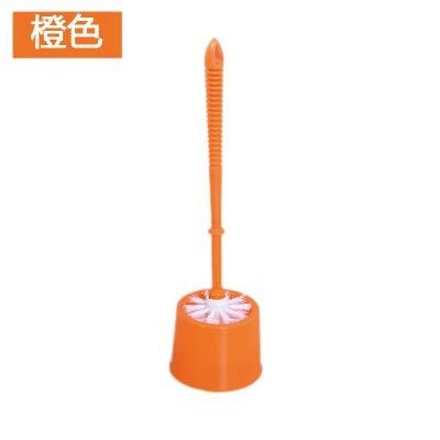 WANDOM WC-Bürsten-Satz weichborstige Edelstahl Toiletten Netter Hocken auf der Toilette Ersetzen The Base Kreative Beizpinsel Normal OrangeY13-DJ3642107588