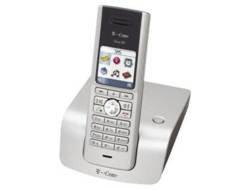 Preisvergleich Produktbild T-Com Sinus 301 schnurloses DECT-Telefon mit Farbdisplay lichtsilber / schwarzblau