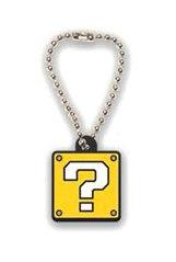 Super Mario Gacha Laser Cut Keychain / Schlüsselanhänger / Ball Chain: ? Block / Fragezeichen-Block