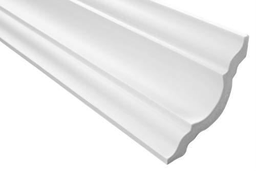 30 Meter   Styropor Stuckleisten   Decke   stabil   weiß   Zierprofil   leicht   dekorativ   XPS   80x80mm   E-15