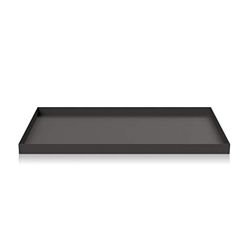Cooee Design Tray Tablett, Edelstahl, Graphite, L : 39, B: 25, H: 2 cm Design Tray