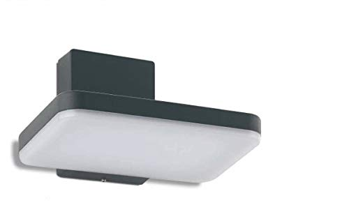 Aplique rectangular a LED para paredes exteriores 8W luz fría