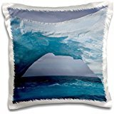 South Georgia Island - South Georgia Island, Iris Bay. Ice bridge, arch 16x16 inch Pillow Case