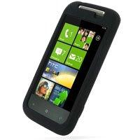 PDair HTC 7 Mozart T8698 Coque en Silicone (Black), Couverture en Caoutchouc Souple de Protection du Corps Complet, Cas Ultra Mince, Prime Etui en Silicone de Luxe pour HTC 7 Mozart T8698