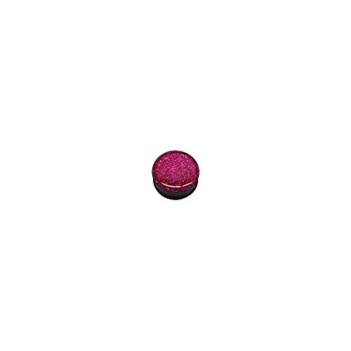 boucles-doreille-piercing-acrylique-tunnel-noir-kristal-epoxy-glitter-pink-glitter-a-vis-10-mm