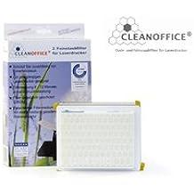 CLEAN OFFICE Feinstaubfilter für Laserdrucker und Kopierer, 2 Stück, Größe L, 150 x 120 x 50 mm von Octopus
